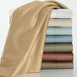 1200 Thread Count 100% Egyptian Cotton Solid Bed Sheet Set 1