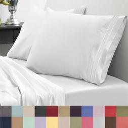 Sweet Home Collection 1800 Thread Count Sheet Set Egyptian Q
