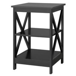 3-Tier Wood End Side Table Bedside Night Stand Home Decor w/