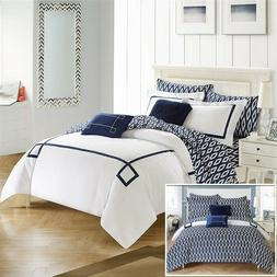 Chic Home 7 Piece Trace Contemporary Reversible Comforter Se