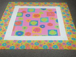 An unfinished Cute Crazy Daisy quilt top measuring approx. 3