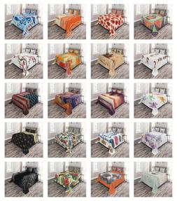 Bedspread Set with 2 Shams Decorative by Ambesonne Printed 3