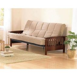 Convertible Futon Sofa Bed Couch Full Size Mattress Solid Li