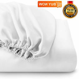 Fitted Bottom Sheet Premium 1800 Ultra-Soft Wrinkle Resistan