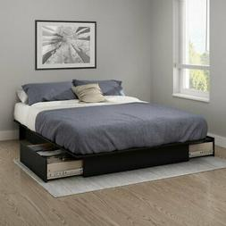 South Shore Gramercy Platform Bed with Drawers - Full/Queen