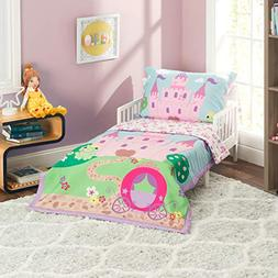 Everyday Kids 4 Piece Toddler Bedding Set -Princess Storylan