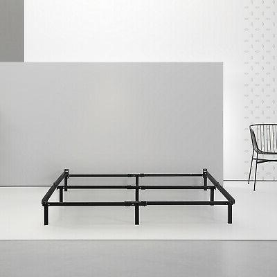 """Adjustable Twin Queen Sizes Bed Frame Steel Sturdy 7"""" Black"""