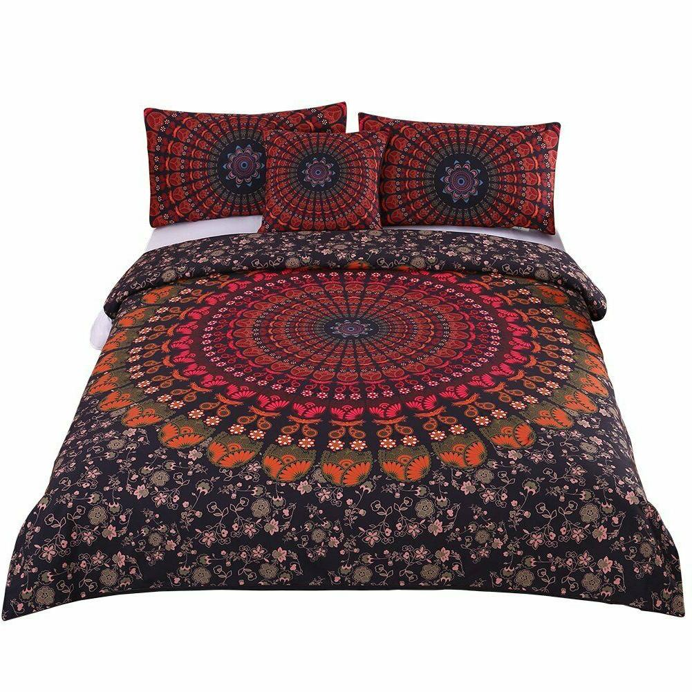 Boho Bedding Set for Twin Bed 4 Pieces