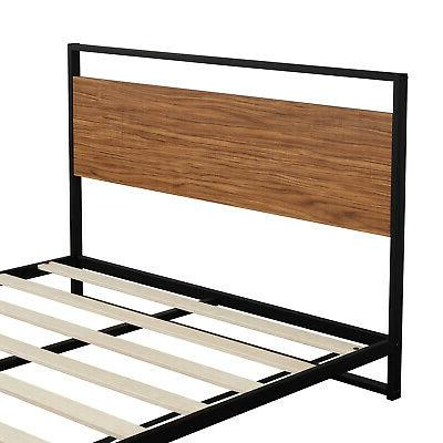 Full Size Bed Frame Headboard &Footboard Metal Support