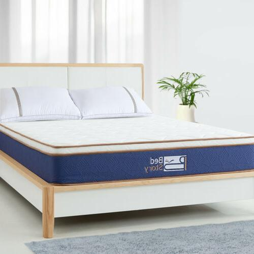 BedStory Queen Size Spring Foam Euro Top Mattress10 inch bed