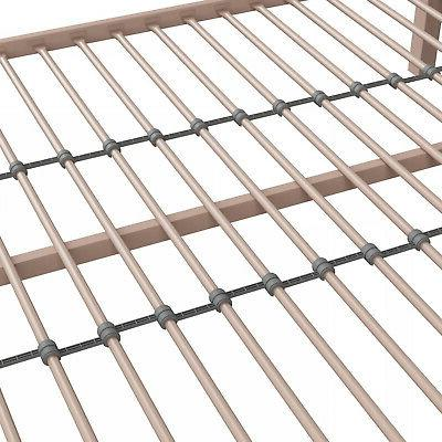 NEW Metal Bed Frame with Headboard Home Pink