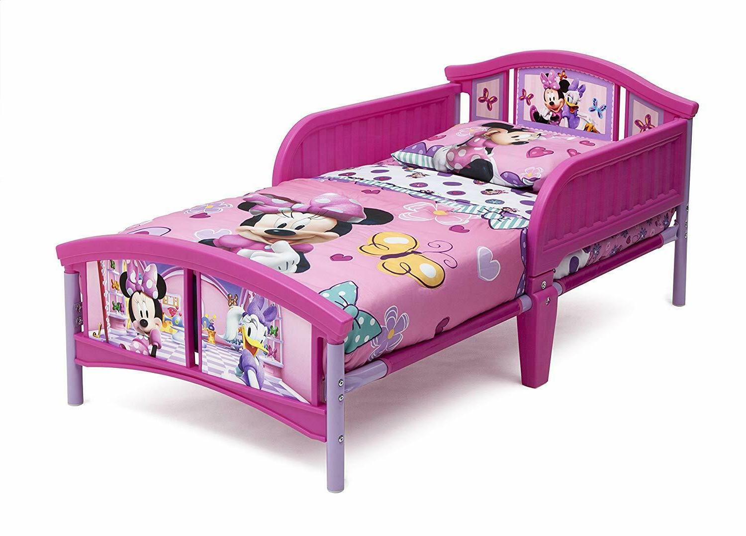 plastic toddler bed pink