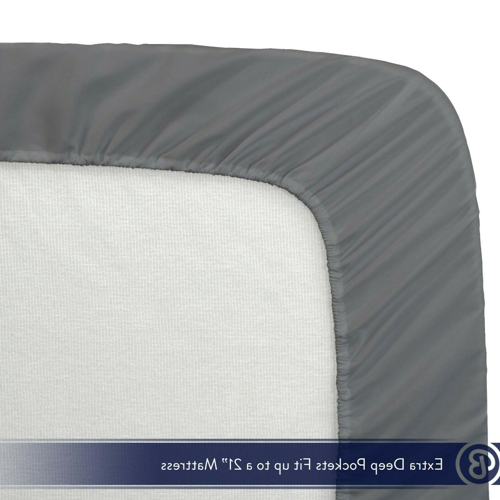 Bare Home Premium 1800 Count Ultra-Soft Fitted