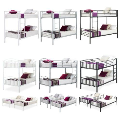 twin over twin metal bunk beds frame