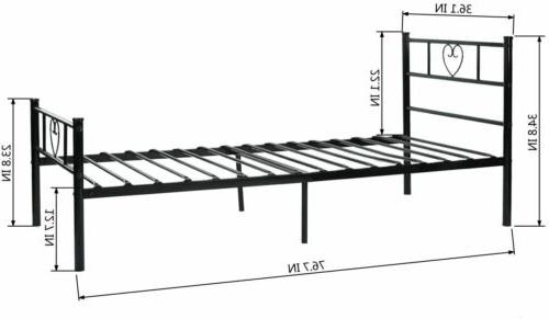 Twin Size Bed Frame with Footboard