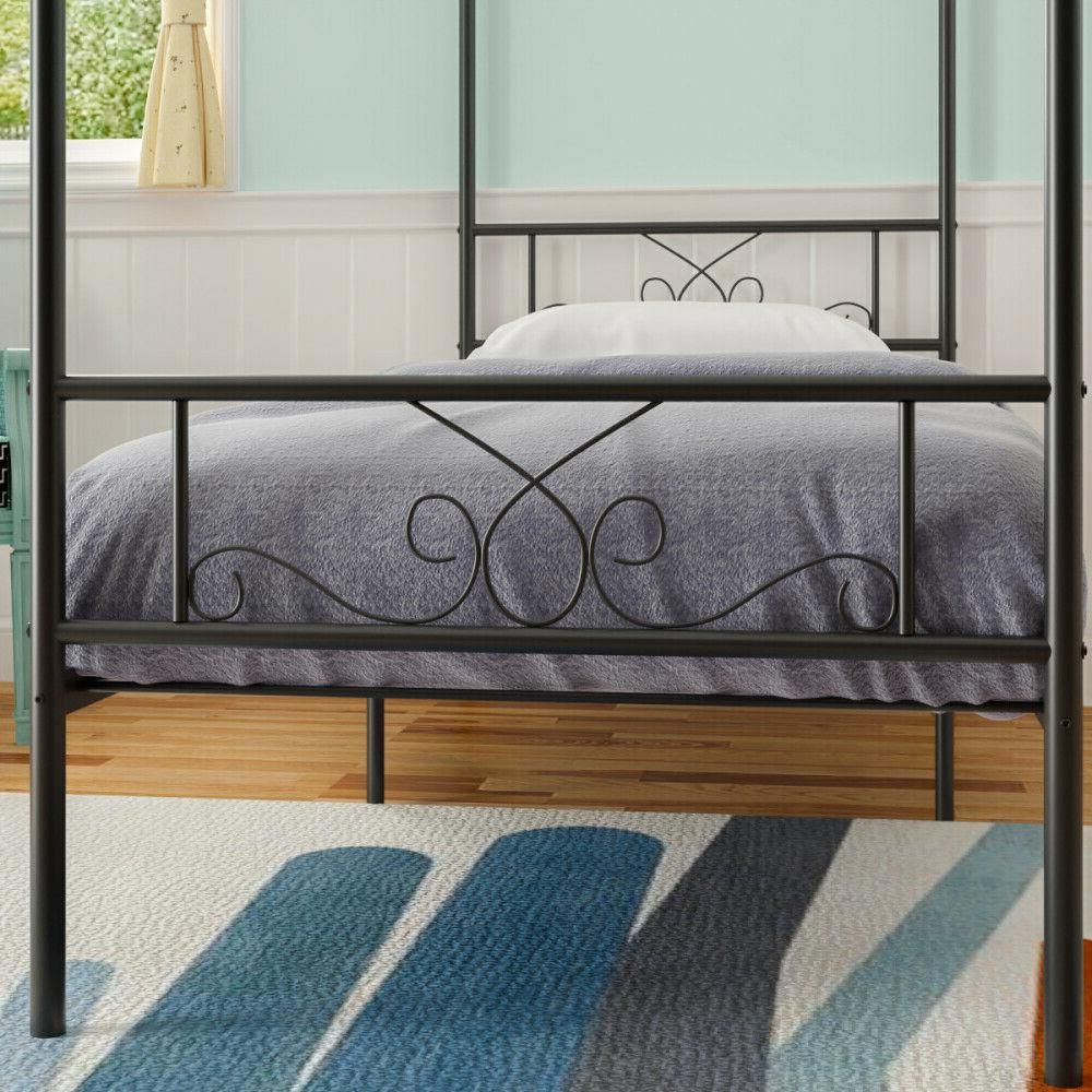 Twin Metal Bed Frame With Footboard