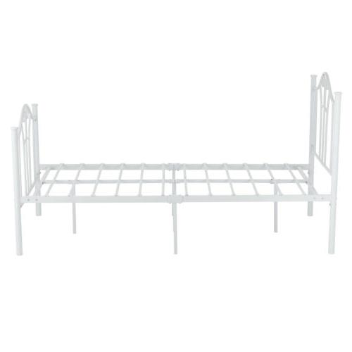Twin Bed Frame Curved Footboard Furniture White