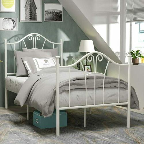 twin xl size metal bed frame curved