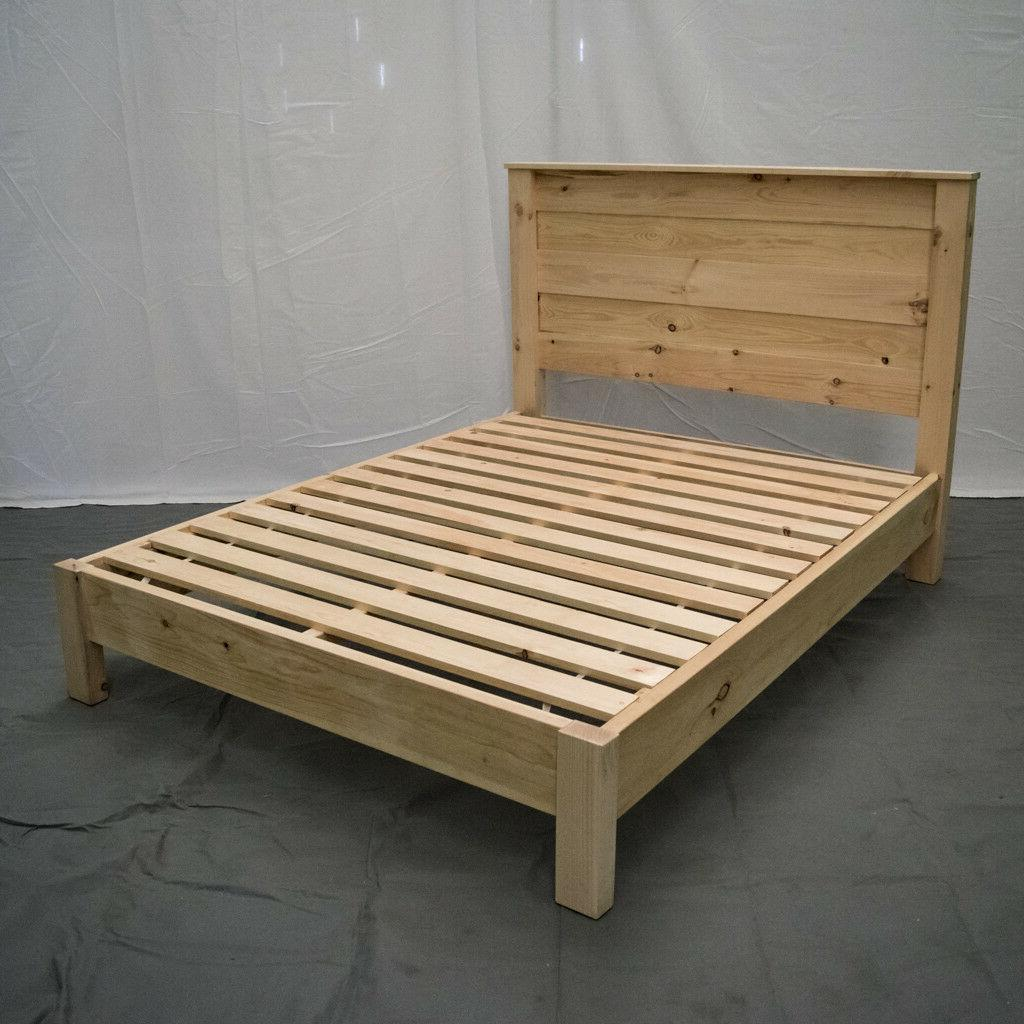 unfinished farmhouse platform bed and headboard full