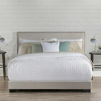 upholstered bed frame queen full size wood