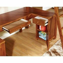 Furniture of America Lavinia Twin Loft Bed with Workstation,