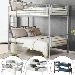 Metal Bunk Beds Frame Twin Over Twin Size Ladder Bedroom Hom
