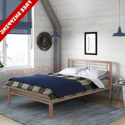 NEW Full Size Kids Metal Bed Frame with Headboard Home Bedro