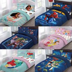 NEW TWIN/FULL DISNEY COLLECTION BED COMFORTER SET MOVIE CART