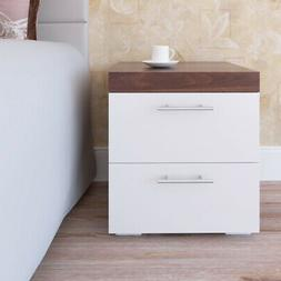 Nightstand 2 Layer 2 Drawers Bedside End Table Organizer Bed
