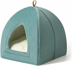 Bedsure Pet Tent Cave Bed for Cats/Small Dogs | Removable Wa