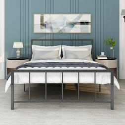 Queen/Full/Twin Size Beds Metal Bed Frame Foundation Headboa