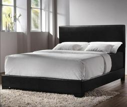 Queen Size Bed Complete Set Faux Leather Frame Bedroom Headb