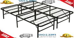 Queen Size Platform Bed Frame Mattress Foldable 14 Inch Meta