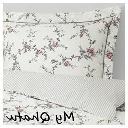 Ikea STENORT Twin Duvet Cover with Pillowcase Bed Set White