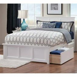 Pemberly Row Full Size Storage Platform Bed in White