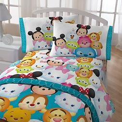 Disney Tsum Tsum Teal Microfiber 3 Pieces Twin Sheet Set Gir
