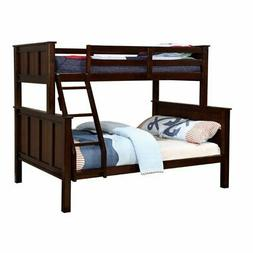 Bowery Hill Twin Over Full Bunk Bed in Dark Walnut