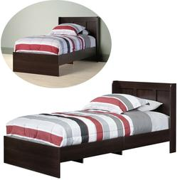 Twin Platform Bed Frame Wood with Headboard Furniture Bedroo