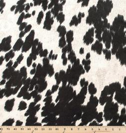 Udder Madness Domino Black   Faux Cowhide Hair on Hide   Hom