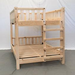 Unfinished Farmhouse Bunk Bed - Queen/Queen / Wood Reclaimed