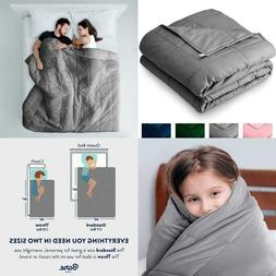 Bare Home Weighted Blanket10Lb - Throw/Travel Size For Kid